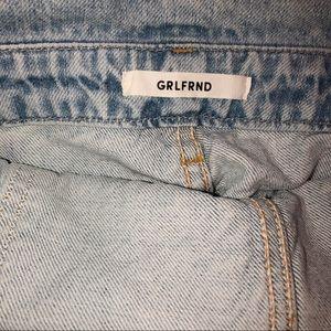 GRLFRND Jeans - GRLFRND Distressed Frankie Denim Shorts Overalls L